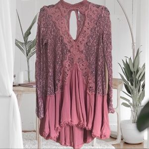 Free People 'secret origins' dress in rosy coral